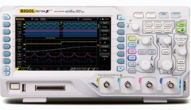 Rigol DS1104Z-S PLUS 100MHz 1GSa/S 4-Channel Digital Oscilloscope MSO Ready + 2 channel 25MHz Waveform generator