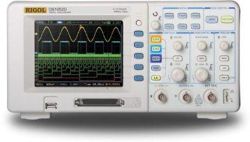 Rigol DS1102D 100MHz 1GSa/s 2-Channel 16-Ch Logic Digital Oscilloscope