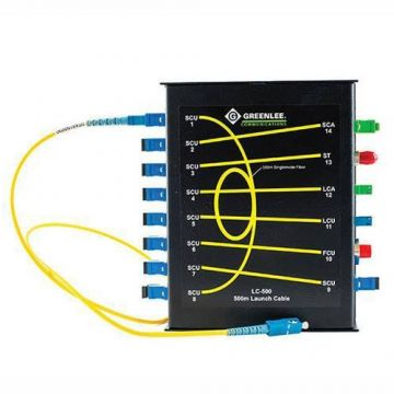 Greenlee OTDR Launch Cable with Patch Panel Matrix (LC-500)