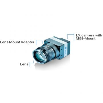 Baumer LXG Series Lens Mount Adapter M58 to F-mount