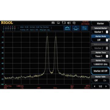 Rigol RSA3000-BW1, RBW for 1Hz to 10MHz